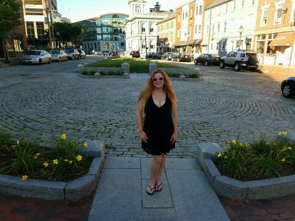 Cobblestone and brick streets in Portland Maine