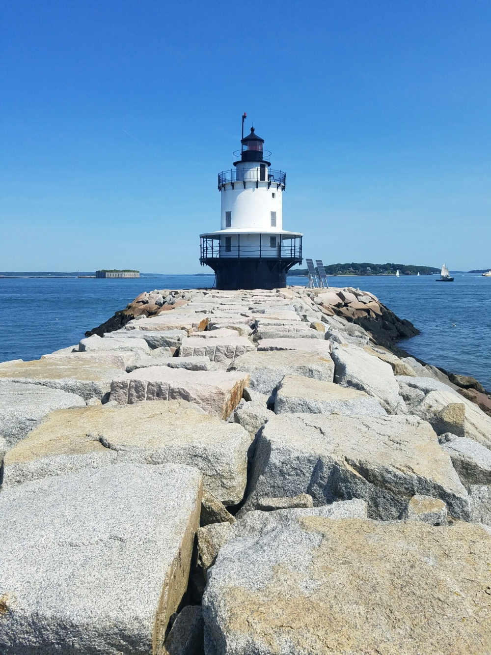 The Spring Point Ledge Lighthouse with it's 900 foot granite breakwater