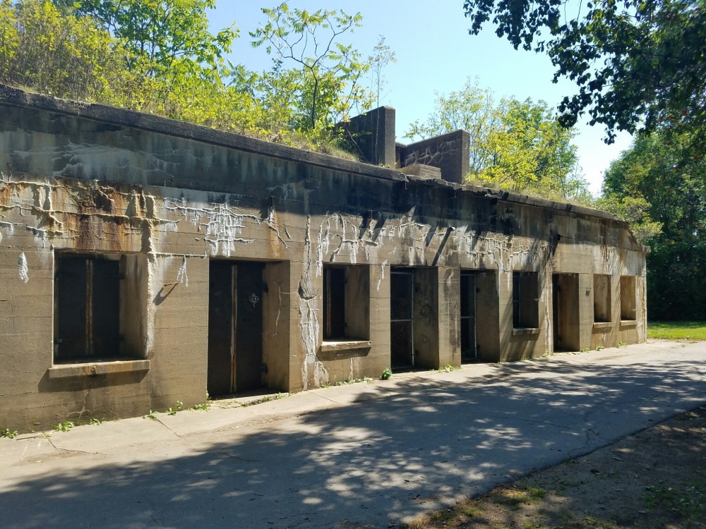 Remains of one of the batteries at Fort Williams