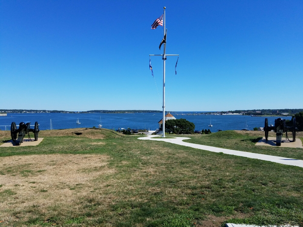 View from the lawn of Fort Allen Park on Munjoy Hill