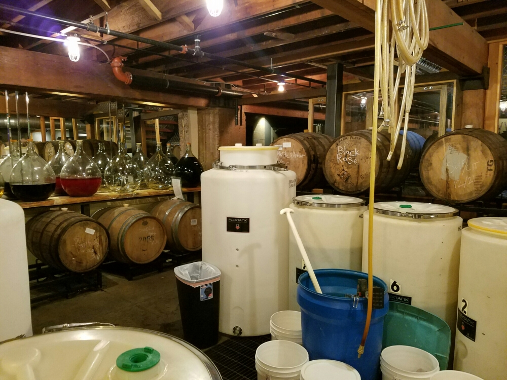 Mead making in action at Superstition Meadery