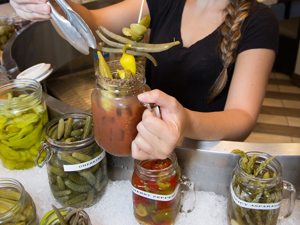 Bloody Mary Bar at the Hash Kitchen