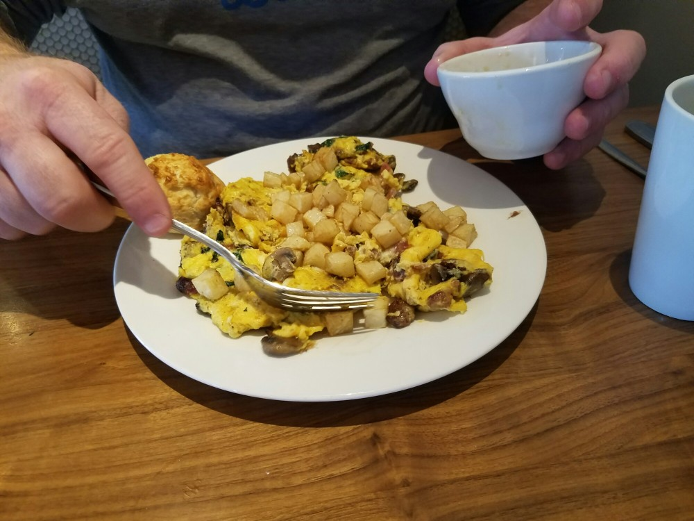 Breakfast scramble at the Hash Kitchen in Scottsdale