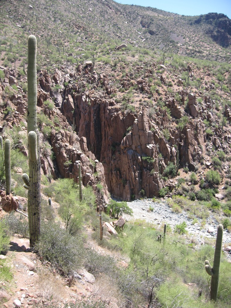 The trail coming out of the exit from the canyon