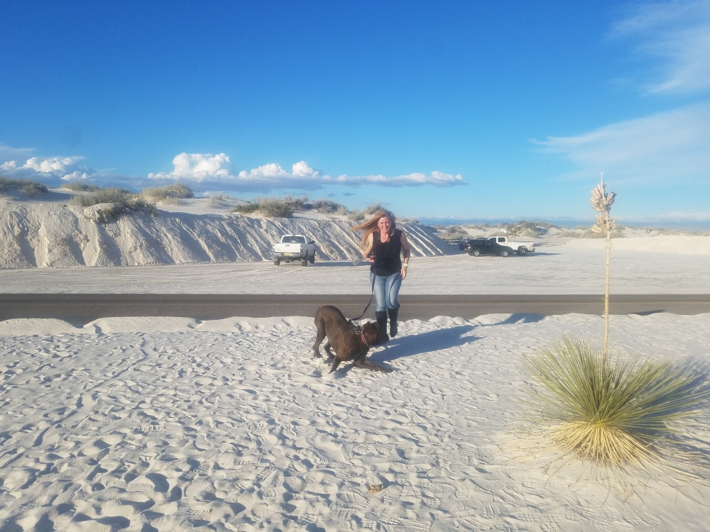 Excited at White Sands