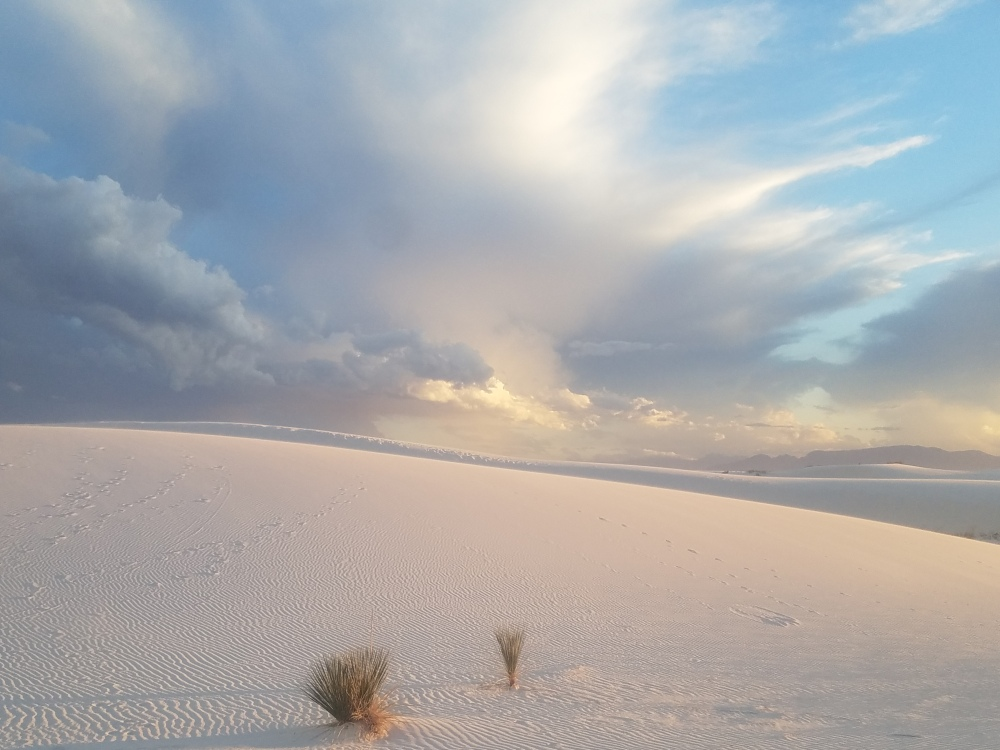Beautiful desolation at White Sands National Monument New Mexico